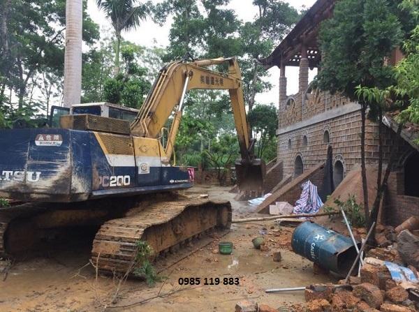Phương án phá dỡ công trình tường và nền
