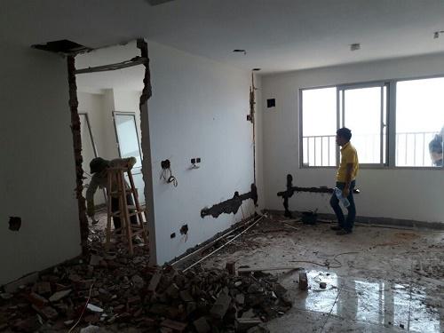 Những lưu ý khi phá dỡ tường chung trong cải tạo, sửa chữa nhà cửa