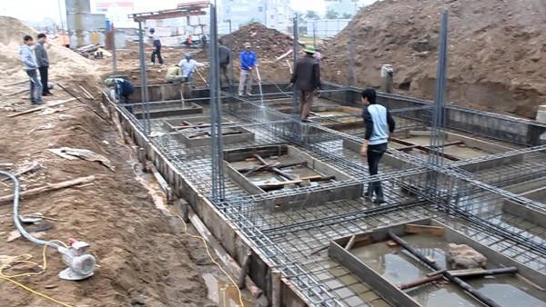 đào móng nhà 5 tầng