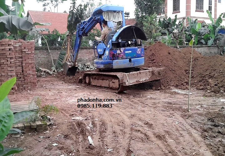 đào móng nhà yếu
