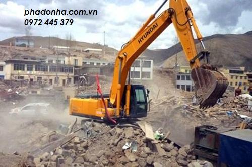 Phá dỡ công trình tại Hà Nội cực nhanh chóng