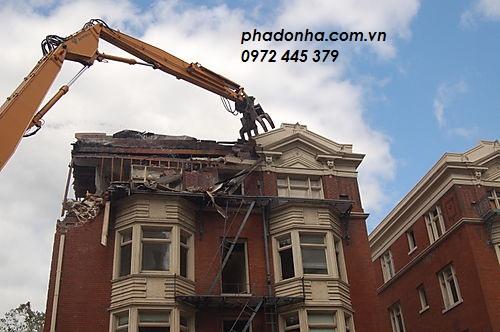 Dịch vụ phá dỡ nhà tại Hà Nội cực nhanh chóng