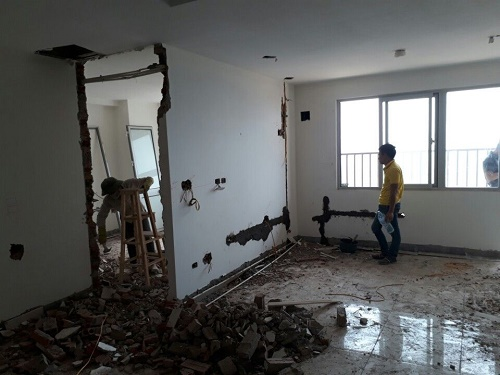 đơn giá phá dỡ tường tại hà nội