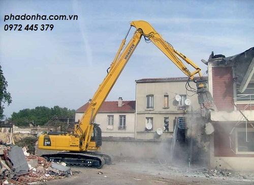 phá dỡ công trình tại quận hà đông