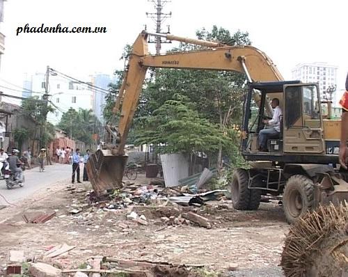 phá dỡ công trình tại quận nam từ liêm
