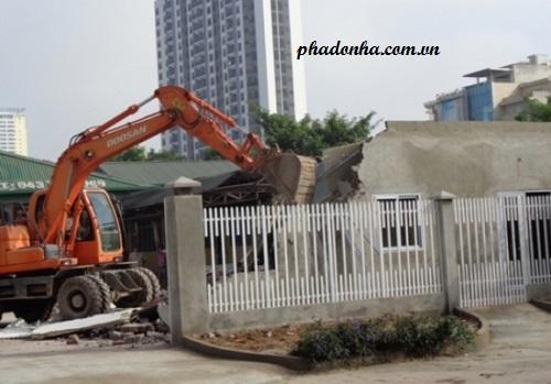 phá dỡ công trình tại quận nam từ liêm hà nội