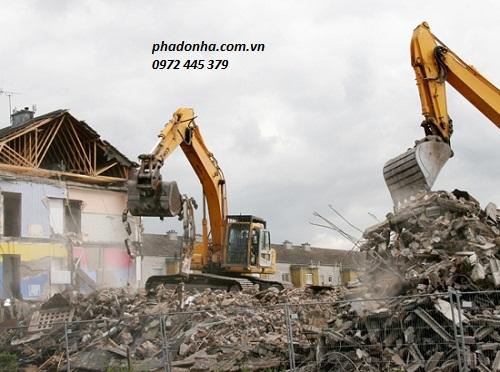 phá dỡ công trình tại quận thanh xuân